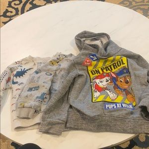 3 sweaters size 4t Carter's Nickelodeon paw patrol